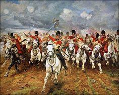 Charge of the Scots Greys... Waterloo