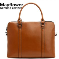 New 2014 discount vintage women's oil wax genuine leather business portfolio for documents laptop bag handbags, Free Shipping $55.00
