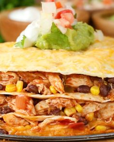 Mexican food recipes 489766528220437095 - Cheesy Chicken Layer Quesadilla Source by cracoutte Mexican Dishes, Mexican Food Recipes, Dinner Recipes, Ethnic Recipes, Dinner Ideas, Top Recipes, Cooking Recipes, Healthy Recipes, Slow Cooking