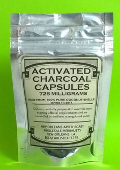 ACTIVATED CHARCOAL CAPS(COCONUT SHELL) 725mg -2.8X LARGER THAN USUAL  CAPS