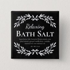 Black Vintage Relaxing DIY Bath Salt Labels | Zazzle.com Diy Bath Salt Labels, Black Chalkboard, Diy Chalkboard, Bath Salts, Homemade Scrub, Relaxing Bath, Vintage Labels, Different Shapes, Bath Bombs