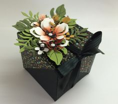 Beautiful Botanicals winged gift box with tutorial! Stampin Up!