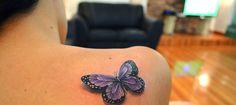 Bilderesultat for 3D butterfly tattoo