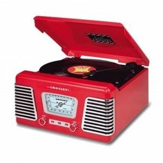 Crosley CR711 Autorama Turntable with AM/FM Radio- Red by Crosley. $105.12. CROSLEY Crosley CR711 Autorama Turntable with AM/FM Radio- Red Model: CR711-RE  Bet you didn't know that Powel Crosley was the first to build a production model sports car in the U.S. Yes, he's not only the genius who brought us mass produced radios, appliances, and of course WLW - The Nation's Station, but he also became famous for his Crosley automobiles. The Autorama represents a vintage icon mimicki...