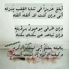 ♡ وكيف أذكره اذ لست أنساه Arabic Poetry, Arabic Words, Arabic Quotes, Islamic Quotes, Poetry Quotes, Words Quotes, Sayings, Favorite Quotes, Best Quotes