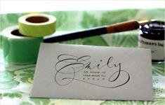 Flourish & Whim - cartas Envelope Lettering, Calligraphy Envelope, Envelope Art, Calligraphy Letters, Typography Letters, Modern Calligraphy, Envelope Design, Font Alphabet, Fancy Writing