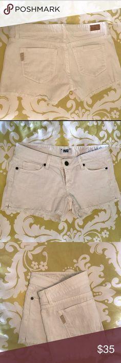 Paige denim cut off shorts Paige denim white cut off shorts - size 27 Paige Jeans Shorts Jean Shorts