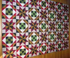 Sew Two Easy Quilt Blocks When You Make a Star-Crossed Nine-Patch Quilt: Star Crossed Nine Patch Quilt Pattern