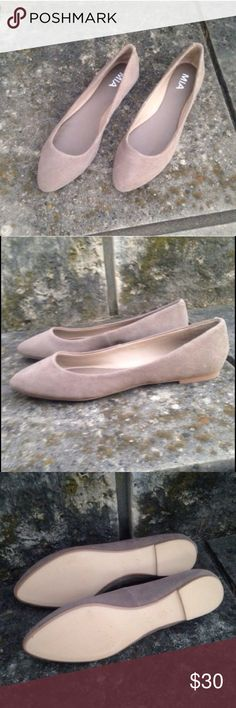 NWT MIA Tan Suede Pointed Flats Loafers Size 8 So cozy and chic! MIA Shoes Flats & Loafers