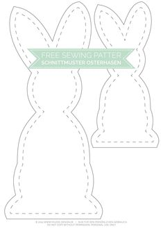 Black and White Osterhasen mit kostenlosem Schnittmuster Gratis Schnittmuster Osterhase - Free Sewing Pattern Easter Bunny Template, Bunny Templates, Bunny Crafts, Easter Crafts, Sewing Patterns Free, Free Sewing, Pattern Sewing, Diy Osterschmuck, Diy Ostern