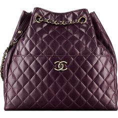 dark purple Chanel ❤ liked on Polyvore featuring chanel