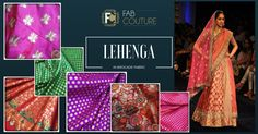 Lehenga in Brocade http://blog.fabcouture.in/2016/01/18/brocade-in-your-wardrobe/
