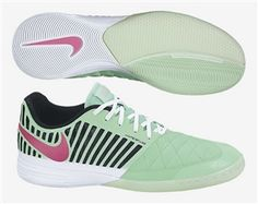 reputable site dadae af950 Nike FC247 Lunar Gato II Indoor Soccer Shoes (Green Glow Pink Foil)