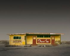 The desert + abandoned buildings = amazing photographs! Desert Realty by Ed Freeman - click on the photo to see the entire series. #photography #desert #SoCal #EdFreeman #desertrealty #realty #abandoned #striking
