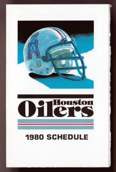 d13f64e0e 1980 HOUSTON OILERS OILER RADIO NETWORK FOOTBALL POCKET SCHEDULE FREE  SHIPPING  SCHEDULE. M K Sports