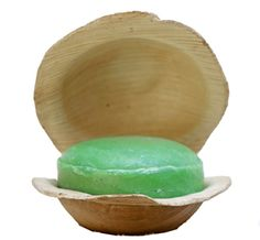 Holy Basil (Tulsi) Soap in Palm Leaf