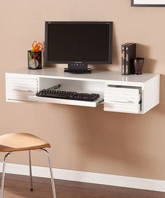 Look at this White Simon Wall Mount Desk on #zulily today!