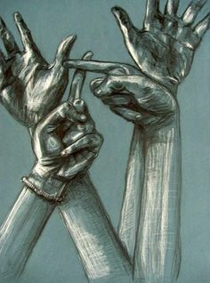 Hand Study w/ Graphite and White Charcoal - Conway High School Art Project Louise Bourgeois, Middle School Art, Art School, Ap Drawing, 7th Grade Art, High School Art Projects, Ap Studio Art, Ap Art, Art Lesson Plans