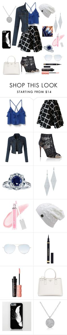 """""""Sтυnnιngly Perғecт"""" by lizzy-2002 ❤ liked on Polyvore featuring MANGO, LE3NO, Valentino, Kobelli, Tiffany & Co., FusionBeauty, Matthew Williamson, Yves Saint Laurent, Benefit and Prada"""