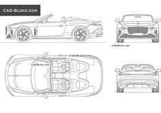Bentley Mulliner Bacalar CAD Block Bentley Mulliner, Bentley Car, Cad File, Cad Blocks, Cad Drawing, 3d Modeling, Autocad, Salads, Drawings