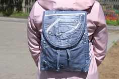 Jean Backpack, Jeans, Backpacks, Fashion, Bags, Moda, Fashion Styles, Backpack, Fashion Illustrations