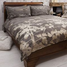 Bramble Brown Quilt Cover Set, Available in 4 Sizes - Starting from £55 | brandinteriors.co.uk