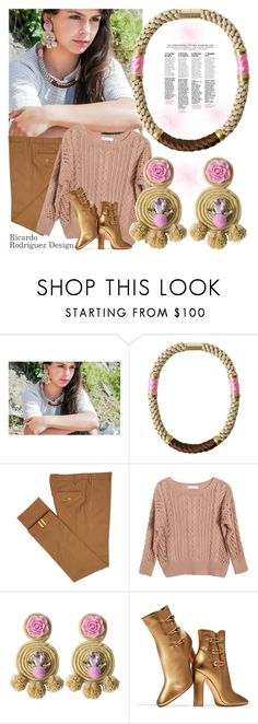 """""""Ricardo Rodriguez Design"""" by gaby-mil ❤ liked on Polyvore featuring Diverso, Ryan Roche, Gianvito Rossi, jewelry and ricardorodriguezdesign"""