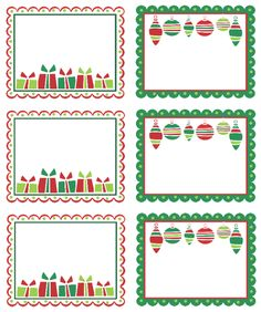 Christmas Address Labels. Free template download. Design by Erin ...