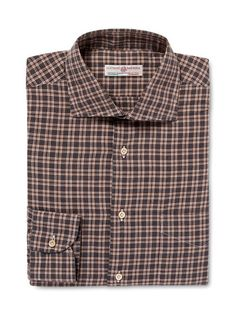 Plaid Dress Shirt by Luciano Barbera at Gilt