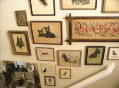 Wall of vintage Scottie prints. by sweetcottagedreams, via Flickr