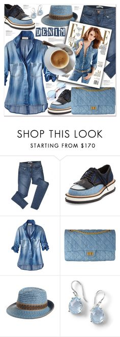 """Denim head to toe"" by poopsie-plopsie ❤ liked on Polyvore featuring J Brand, Givenchy, Chanel, Eric Javits and Ippolita"