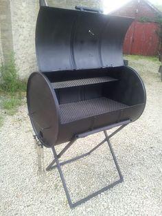 drum bbq - Google zoeken Barbecue Design, Grill Design, Oil Drum Bbq, Drum Seat, Parrilla Exterior, Barrel Bbq, Diy Grill, Stainless Steel Grill, Fruit Garden