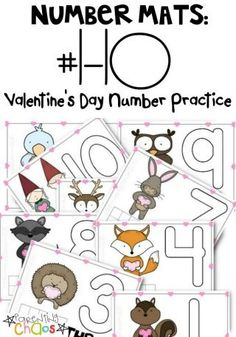 FREE Printable Valentine's Day Number Mats