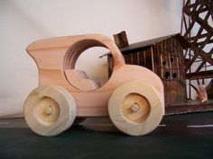 Wood Toy Car Handcrafted for the Kids Children by Tigerseyecrafts