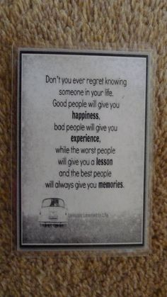Laminated Wallet Size Inspirational Quote/Message Keepsake Cards -  Lessons In Life on Etsy, £2.50