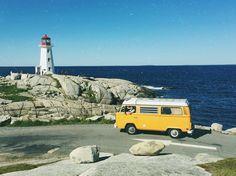 from @misty.vista  Beautiful day visiting Peggy's Cove with the family. #mistyvistavan #explore #explorecanada #peggyscove #summer #adventure #novascotia #vw #views #westfalia #vanlife #cool #lighthouse #photography #instagram #follow #beautiful #beauty #van #ocean #bus #livinthedream #dream #life