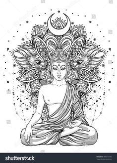 Sitting Buddha Statue over ornate mandala inspired pattern. Sitting Buddha Statue over ornate mandala inspired pattern. Inverno nadjainverno Malen Sitting Buddha Statue over ornate mandala […] tattoo indian Buddha Tattoo Design, Buddha Tattoos, Body Art Tattoos, Zen Tattoo, Hand Tattoos, Sleeve Tattoos, Lotus Tattoo, Tattoo Ink, Thai Tattoo