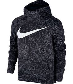 8d7c5e2cd50117 Youth NIKE PRINTED Therma Training Hoodie BLACK 903648 010 SIZE Small  60   fashion  clothing