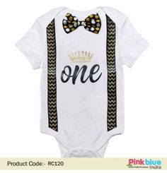 fa7902ea85a 1st Birthday Baby Boy Bowtie Romper Onesie Party Outfit - Newborn Gentleman  Romper Outfit - Baby