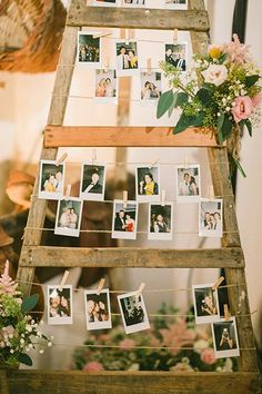 Forgo the guest signings altogether and opt for a visual guest book. Leave a polaroid camera at the table so your guests can take a selfie as proof of their attendance and have them pin it up for a fun décor display.
