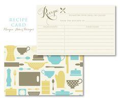 Recipe Card Design www.meaganadair.com