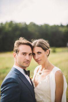 The Bride and Groom. Formal Barn Wedding Photography: Divine Light Photography - dlweddings.com @Divine Light Photography   Read More: http://www.stylemepretty.com/tri-state-weddings/2014/02/25/diy-formal-wedding-at-rufflands-farm/