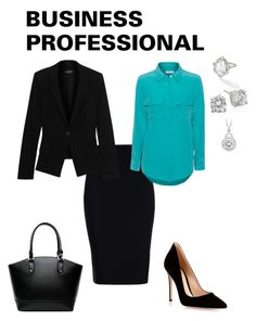 Business Professional featuring Equipment, Donna Karan, Roland Mouret, Gianvito Rossi and Crislu