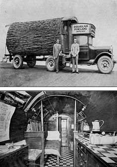 Long Before the Chain Saw... Douglas Fir Log House (mobile office)
