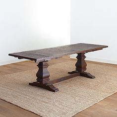 Arcadia Extension Table would look great in the kitchen/dining space. I would love to see a dining bench, even one with a back! Dinning Room Tables, Trestle Dining Tables, Dining Room Design, Dining Room Furniture, A Table, Home Furniture, Farmhouse Furniture, Furniture Design, Dining Room Inspiration