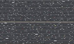 'It took us three months to capture this: the 750 vehicles stand for the 750,000 miles the average car owner drives in a lifetime'