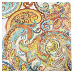 Joyful Paisley Art: A mod flat on Carnaby Street. A trippy psychedelic street fair in San Francisco. The Seventies. There are lots of groovy places you might look for a mind-blowing, hand-painted canvas like our Joyful Paisley Art. But there's only one place you'll find it.