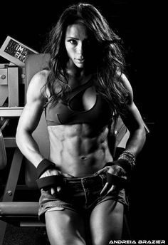 SHREDDED and beautiful Brazilian muscle babe, WBFF Champion & #Fitness model Andreia Brazier : if you love #Health & #Fitspo Inspiration - you'll love the motivational designs at CageCult MMA Fashion: http://cagecult.com/mma