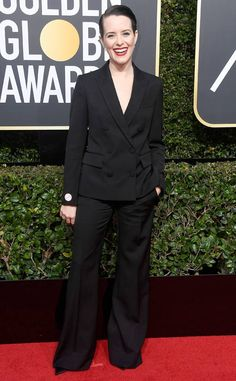 Claire Foy: 2018 Golden Globes Red Carpet Fashion