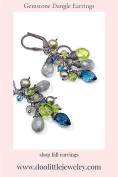Peridot Jewelry, Labradorite Jewelry, Vip Group, London Blue Topaz, Latest Styles, Oxidized Sterling Silver, Gift Cards, Custom Jewelry, Earrings Handmade